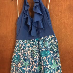 Lilly Pulitzer Blue Shell Dress